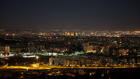 Night view from Bologna Stock Photo
