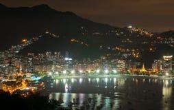 View of Botafogo and Guanabara bay in Rio de Janeiro Stock Photos