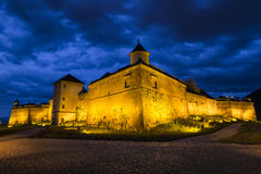 Night view of Brasov Fortress. The citadel, part of Brasov's outer fortification system, was one of the strongest defensive citadels in Transylvania, Romania Royalty Free Stock Photos