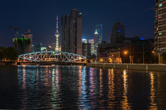 Night view of the bridge Royalty Free Stock Photo