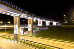 Night view of the bridge Stock Photography