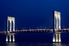 Night view of bridge Royalty Free Stock Photos