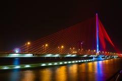Night view of bridge Danang Royalty Free Stock Image