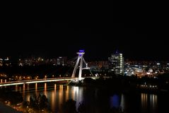 Bridge of the Slovak National Upraising Stock Image