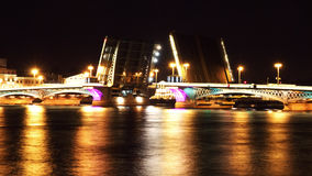 Night view of Bridge. St Petersburg Stock Photography
