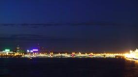 Night view of Bridge. St Petersburg Stock Image