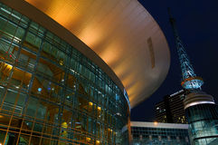 The night view on Bridgestone sports arena in  Nashville, TN. Royalty Free Stock Photos