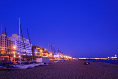 Night view of Brighton Beach UK. Night view of Brighton Beach in UK royalty free stock images