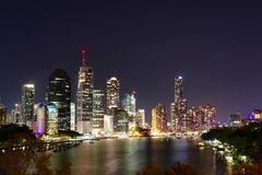 Night View in Brisbane Stock Photos