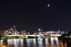 Night View in Brisbane Royalty Free Stock Photos