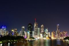 Night View in Brisbane Stock Image