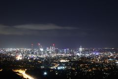 Night View in Brisbane Royalty Free Stock Photo