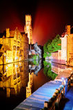 Night view of Bruges, Belgium Stock Photo