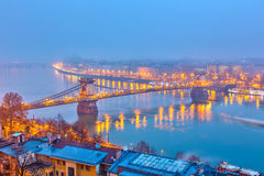 Night view of Budapest Royalty Free Stock Photography