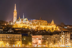 Night view of the Budapest, Hungary. Night view of the Budapest on the Danube river, Hungary Royalty Free Stock Photo
