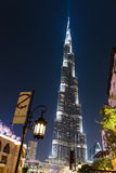 Night view of Burj Khalifa - the world's tallest tower at Downto Stock Images