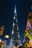 Night view of Burj Khalifa - the world's tallest tower at Downto Stock Image