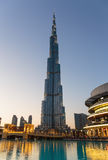 Night view of Burj Khalifa - the world's tallest tower at Downto Stock Photography