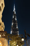 Night view of Burj Khalifa - the world's tallest tower at Downto Royalty Free Stock Images
