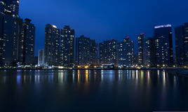 Night view of Busan Royalty Free Stock Photos