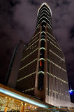 Night view of business building in Shanghai, China Royalty Free Stock Photography