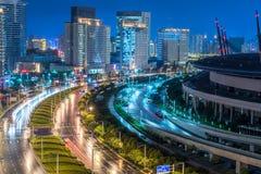 Zhengzhou city night scene. A night view of the bustling city of zhengzhou royalty free stock photo