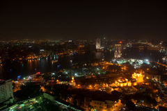 Night view of Cairo from Cairo tower Stock Photo