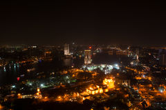 Night view of Cairo from Cairo tower Stock Image