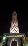 Night view of Cairo tower Royalty Free Stock Photos