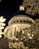 Night View Of The California State Capitol Building. In Downtown Sacramento stock photography