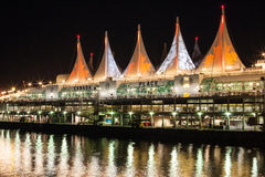 Night view of Canada Place Royalty Free Stock Image