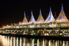 Night view of Canada Place Stock Images