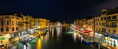 Night view of Canal Grande in Venice Stock Photography