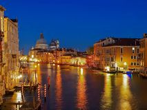 Night view of Canale Grande in Venice. Canale grande in Venice at night stock photos