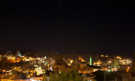 Night view of Cappadokia Goreme in Turkey Stock Photography
