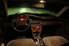 Night view from car. Royalty Free Stock Image