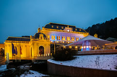 Night view on casino in Baden bei Wien Royalty Free Stock Photo