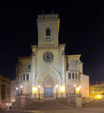 Night view of  Cathedral of Albacete Stock Image
