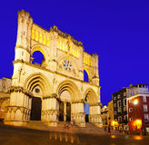 Night view of Cathedral in Cuenca Stock Photos