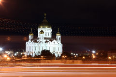 Night View Cathedral of Jesus Christ the Saviour in the summer v Royalty Free Stock Images