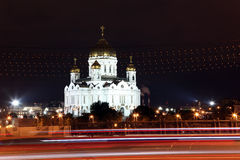 Night View Cathedral of Jesus Christ the Saviour in the summer v Royalty Free Stock Photography
