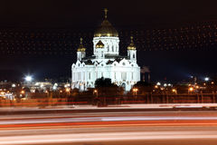 Night View Cathedral of Jesus Christ the Saviour in the summer v Stock Photography