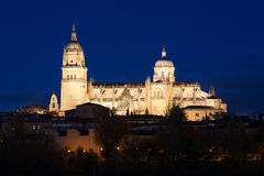 Night view of  Cathedral of Salamanca Royalty Free Stock Photo