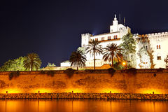 The night view on Cathedral of Santa Maria Stock Photos