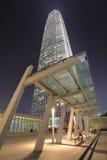 Night view at central  Hong Kong Royalty Free Stock Photo