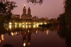 Night view in Central Park Royalty Free Stock Photos
