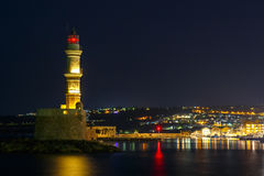 Night view of Chania, Crete Stock Photography