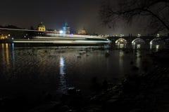 Night view on the Prague´s Charles bridge Stock Photo