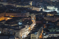Night view of the Charterhouse of San Martino Naples Campania Italy Europe Stock Images