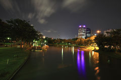 Night view of Chatuchak recreation park Stock Photography